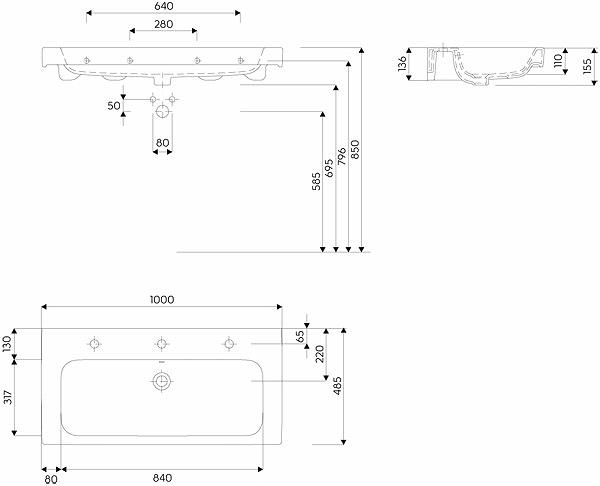 Koło Modo Umywalka Nablatowa 506080100 Cm Hydro Jar