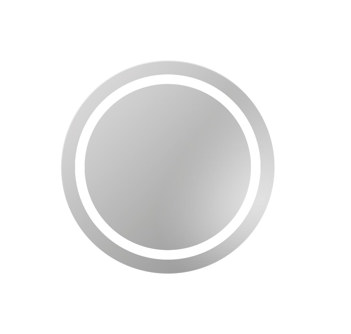 Dubielvitrum Lustro Okrągłe Triton Z Oświetleniem Led